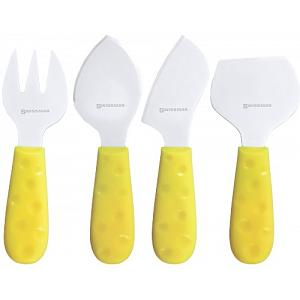 Swissmar 4pc Petite Suisse Soleil Cheese Knife Set